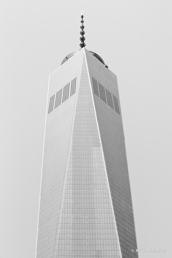 FREEDOM TOWER MANHATTAN NEW YORK CITY BLACK AND WHITE VERTICAL