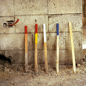 Lebanon - Tyre - Coloured staves