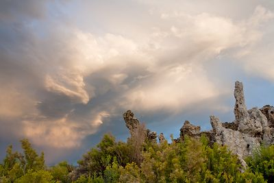 Tufas and Evening Sky
