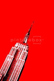 An graphic image of the Empire State building in New York City, USA.
