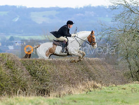 Martin Reason jumping a hedge above Wilson's covert