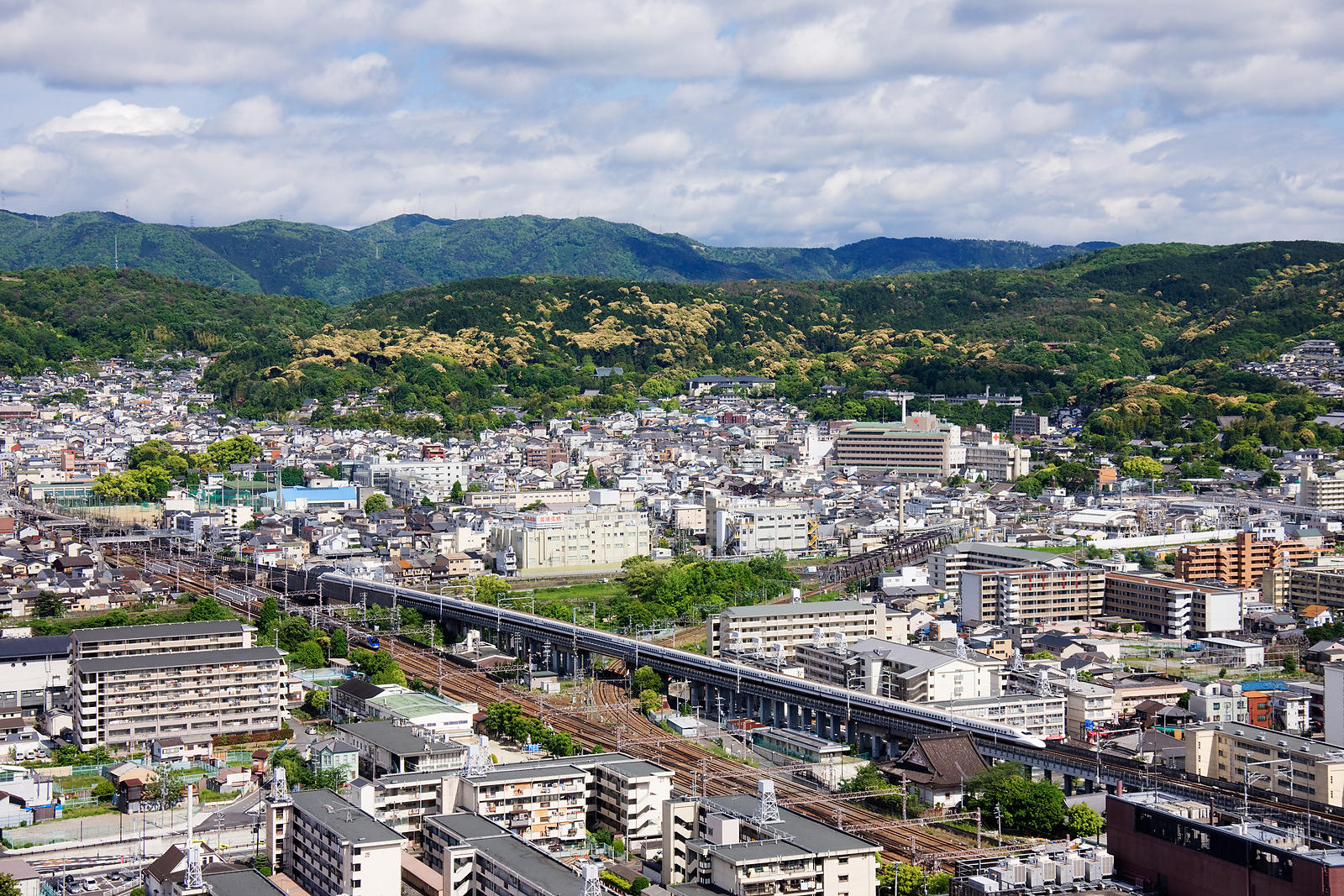Aerial View of Kyoto from the Kyoto Tower