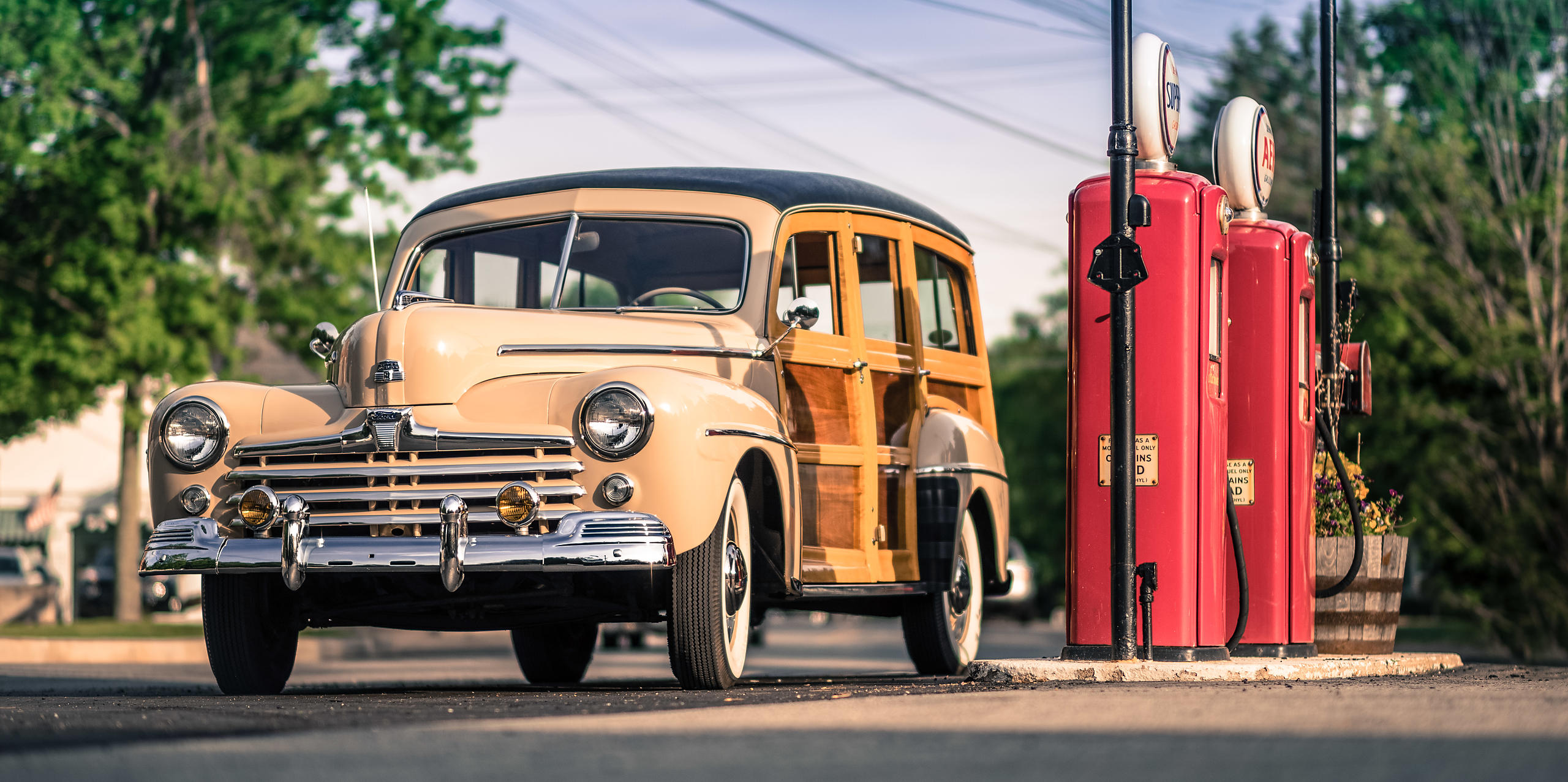 Antique 1948 Ford Woodie Wagon