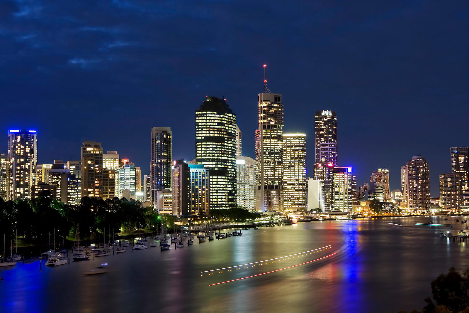 Brisbane City by Night