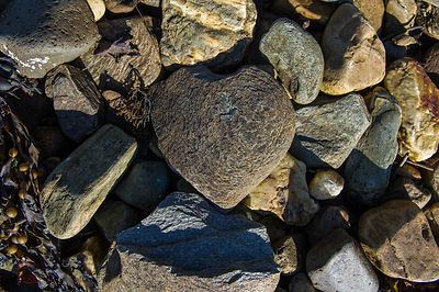 Heart shaped stone Loch Fyne