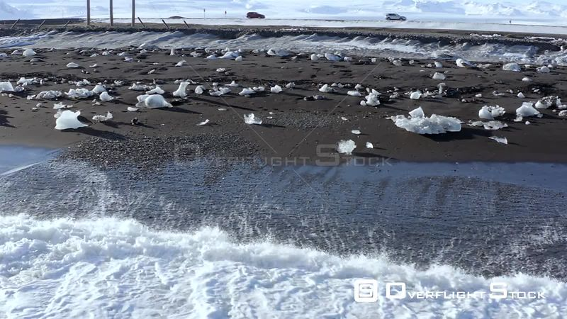 Diamond Beach at Glacier Lagoon in Iceland a Black Sand Beach with Scattered Ice