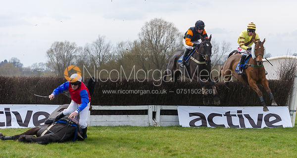 Panama Canal (Richard Armson) falling, The Mens Open - The Quorn at Garthorpe 21st April 2013.