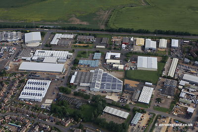 aerial photograph of the North Lynn Industrial EstateKings Lynn, Norfolk UK