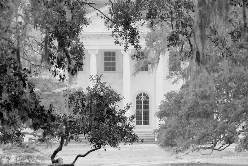 PLUM ORCHARD MANSION CUMBERLAND ISLAND GEORGIA BLACK AND WHITE