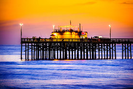Balboa Pier at Sunset Picture