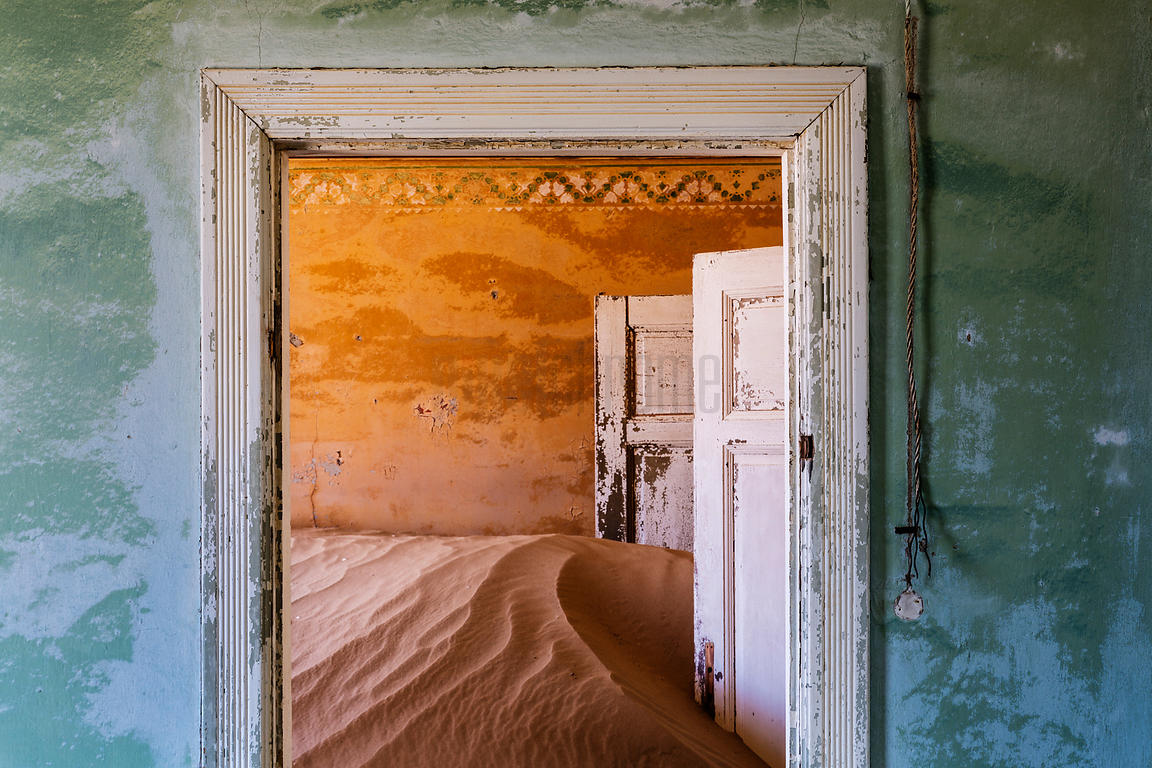 Sand Drifting into Abandoned Building