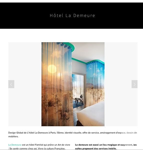 La Demeure Hotel in Paris, France