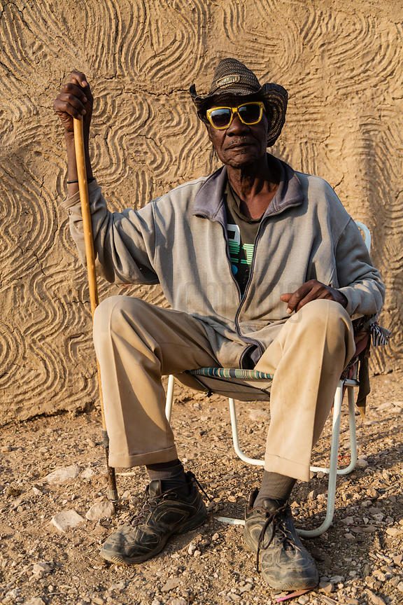 Portrait of a Herero Man with a Cane