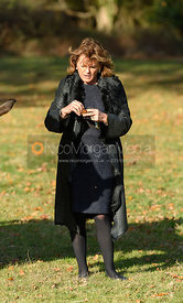 Emma, Duchess of Rutland at the meet. The Belvoir Hunt at the Kennels 13/11