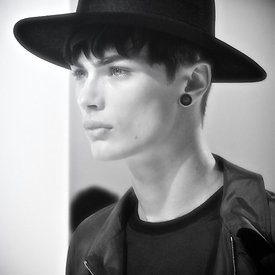 """ Dior Homme Runway SS12: Model portrait - 3"""