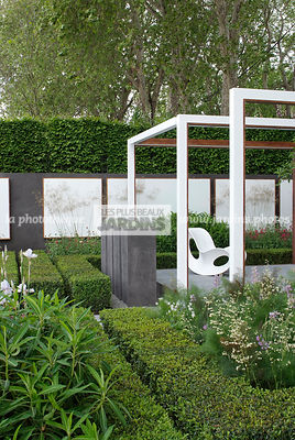 Buxus, Chair, Contemporary garden, Digital, Garden furniture, Pergola, Resting area, Common Box