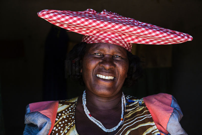 Portrait of a Herero Woman Inside her House