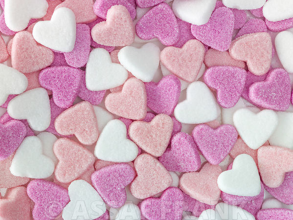 Heart shape sugar candies