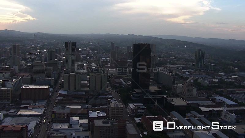 Aerial shot of the central business district in Pretoria. Pretoria Gauteng South Africa