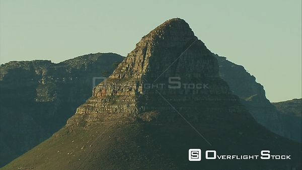 Aerial of Lion's Head in Cape Town. Cape Town Western Cape South Africa