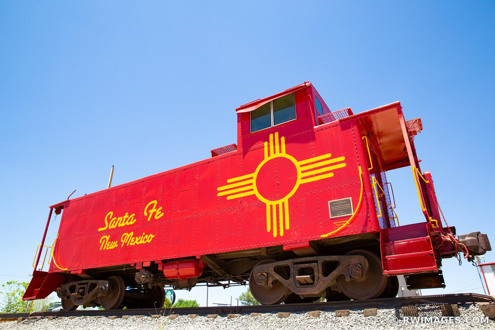 OLD RED CABOOSE TRAIN CAR SANTA FE NEW MEXICO NORTHERN NEW MEXICO