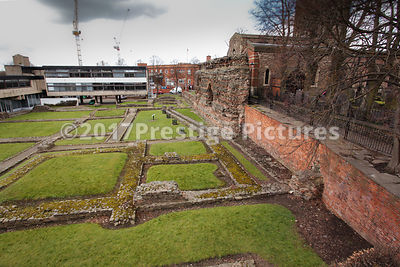 The Roman built Jewry Wall formed part of the public baths in place since this was a Roman City