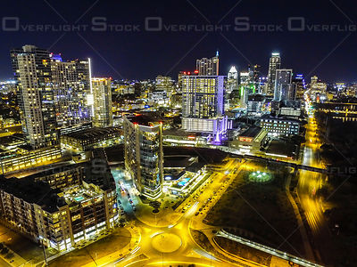 Austin Texas Downtown City Skyline ay Night USA