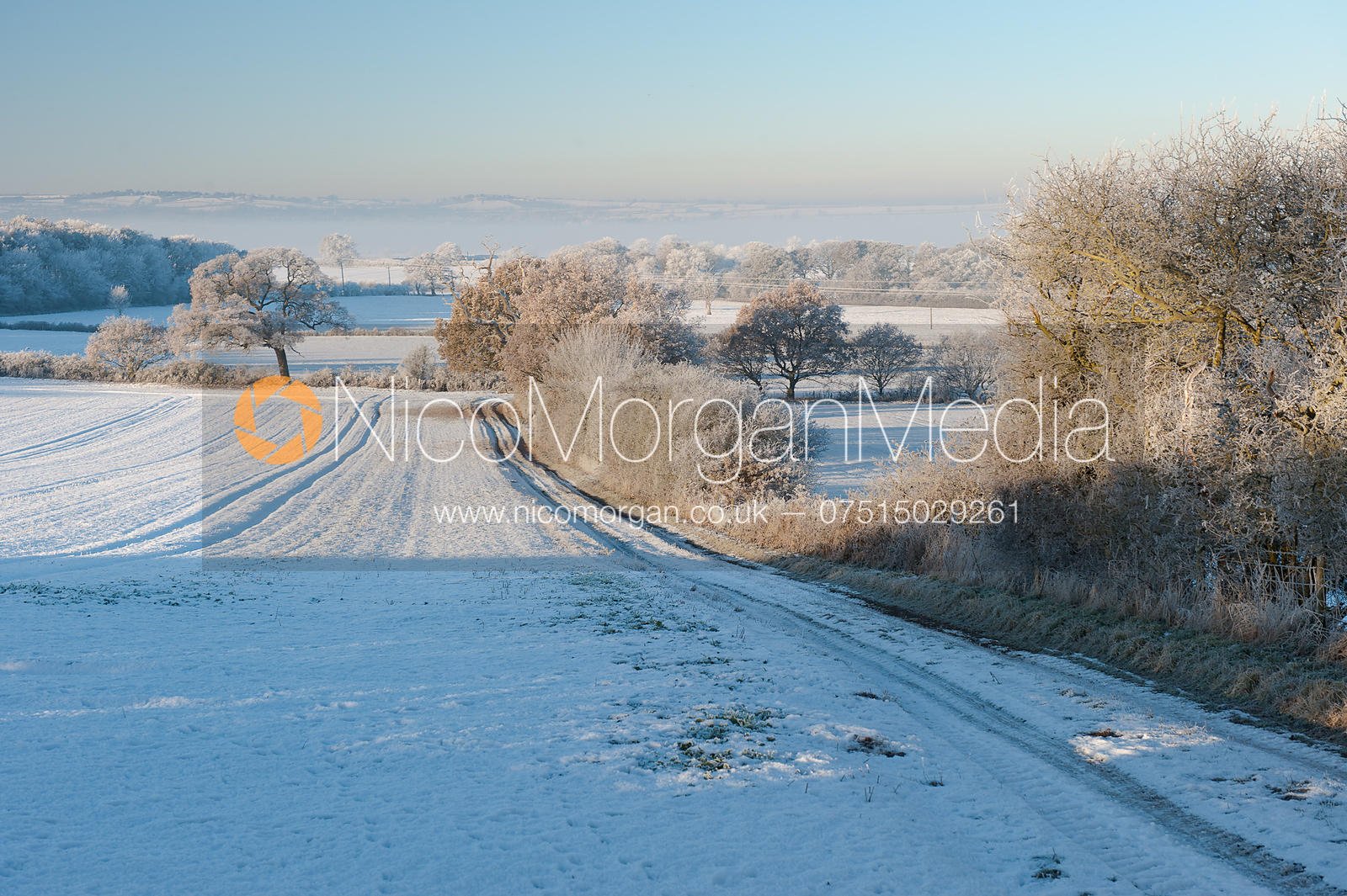 View of Rutland in the snow from Burley-on-the-Hill.