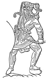 Scythian warrior armed with acinaces
