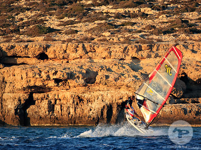 Windsurfing in Crete Greece