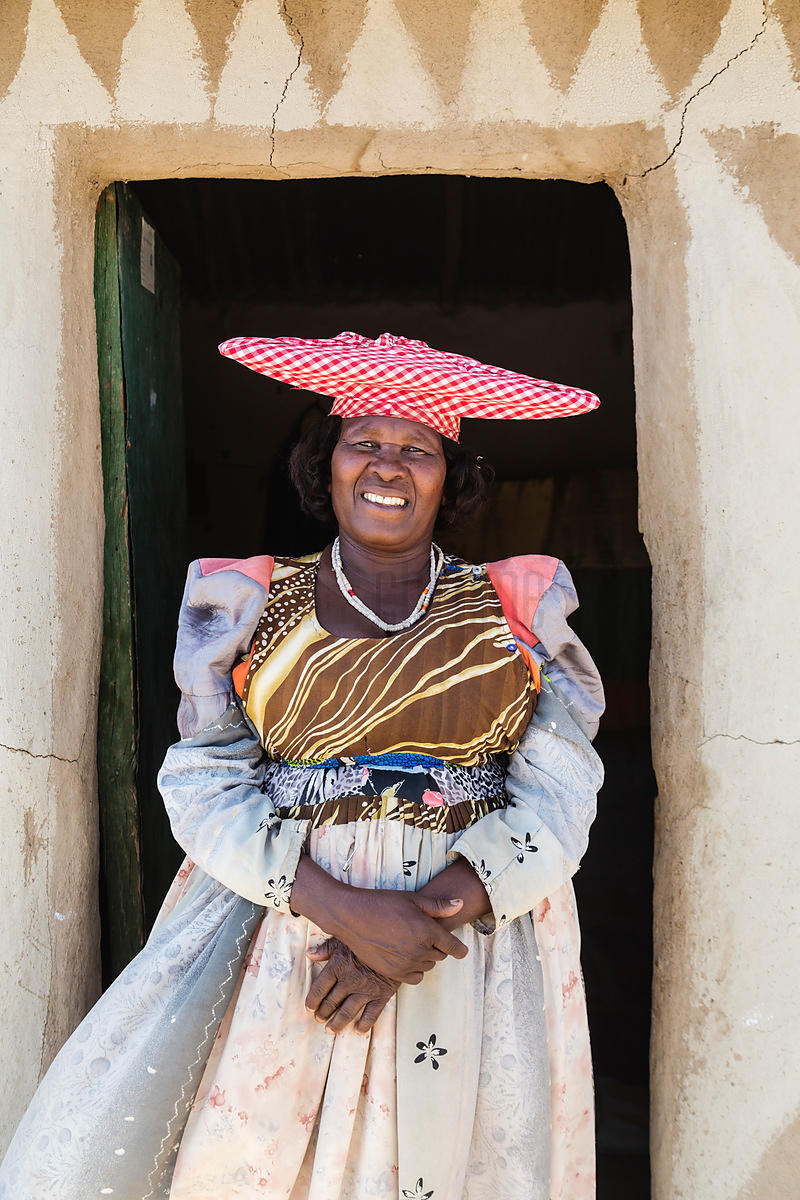 Portrait of a Herero Woman Outside her House