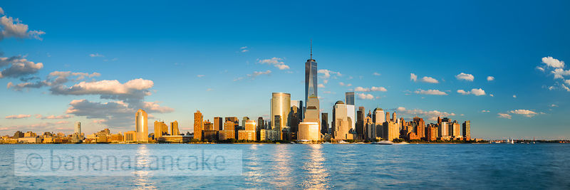 Lower Manhattan skyline from New Jersey, New York - BP4484