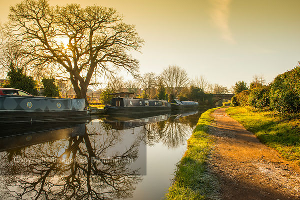 Canals at Penkridge, Staffordshire.