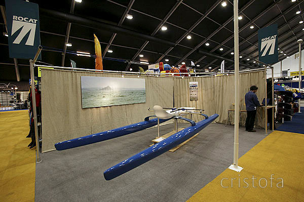 ROCAT had its own stand at the 2004 London Boat Show - the prototype on display was a lashup and we were erecting the stand w...