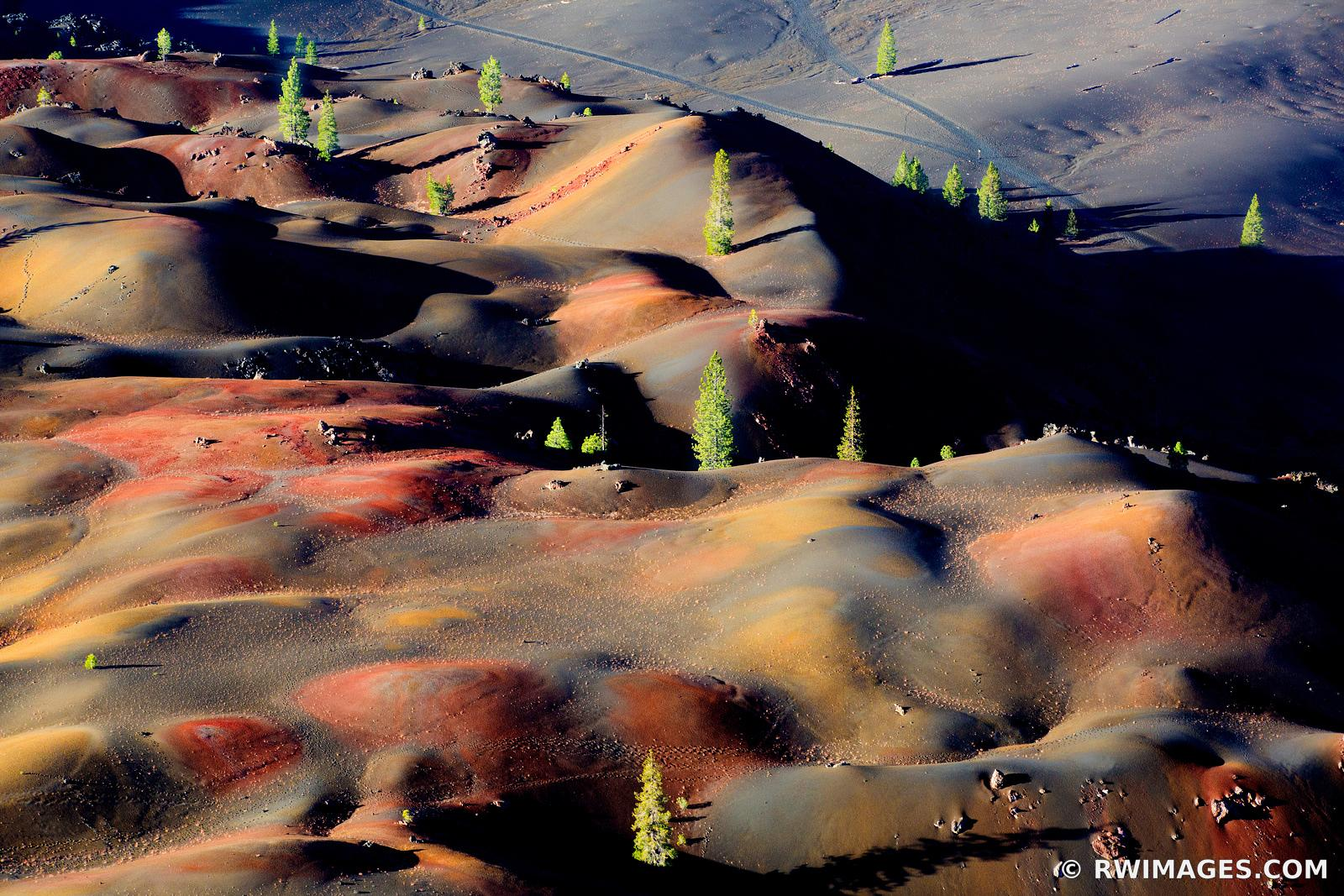 PAINTED DUNES LASSEN VOLCANIC NATIONAL PARK CALIFORNIA COLOR