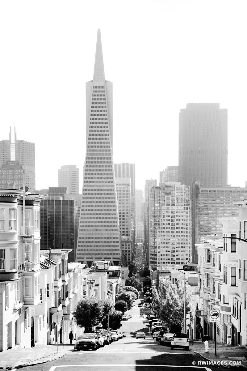 SAN FRANCISCO DOWNTOWN BLACK AND WHITE VERTICAL