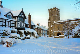 Much Wenlock Guildhall & Holy Trinity Church