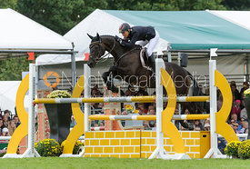 Ingrid Klimke and FRH BUTTS ABRAXXAS - show jumping phase, Burghley Horse Trials 2013.