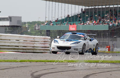 The ISSY Racing Lotus Evora GT4 in action at the Silverstone 500 - the third round of the British GT Championship 2014 - 1st ...
