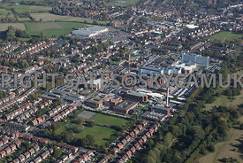 Stockport aerial photograph of Stepping Hill Hospital