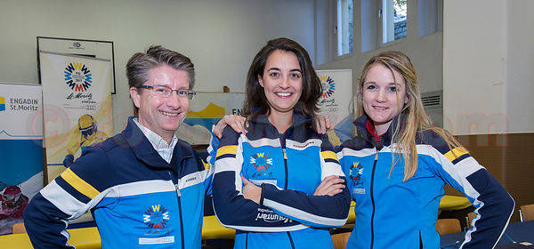 Media Team fuer die Ski Ladies World Cup 2013/2014 in St.Moritz