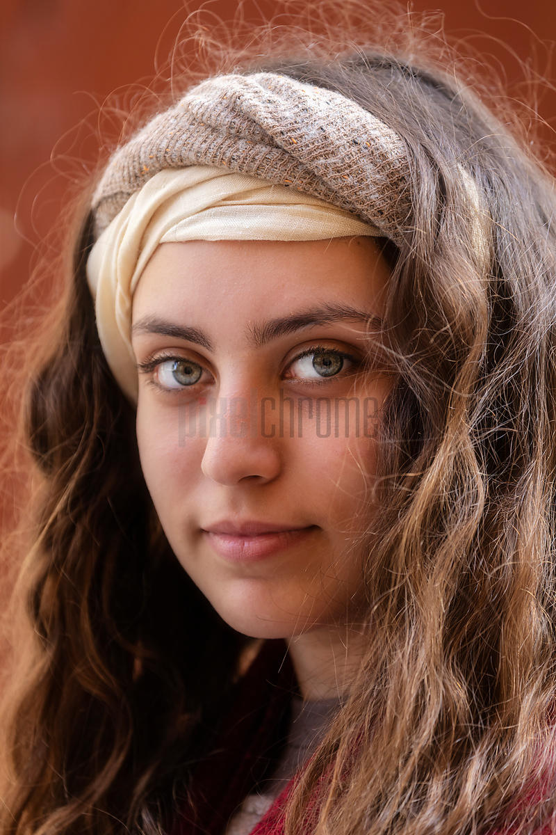Portrait of a Young Woman during the Processione dei Misteri di Trapani Good Friday