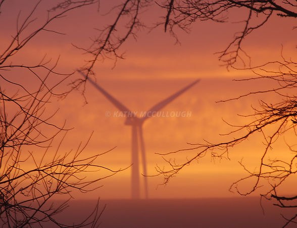 windturbine sunrise