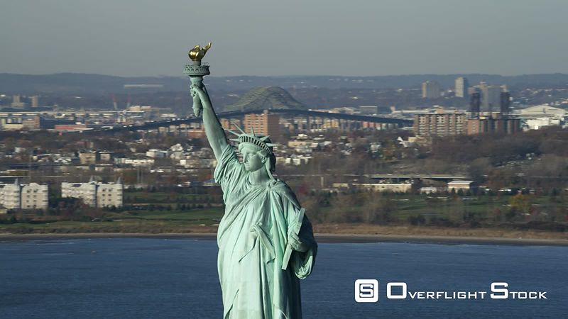 Zoom-out from Upper Portion of the Statue of Liberty.