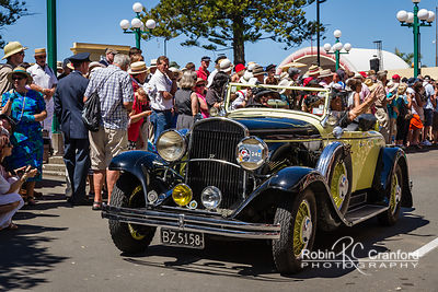 Art Deco Saturday 2012 - Vintage Car Parade.  License Plate = BZ5158