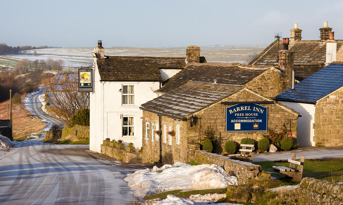 The Barrel Inn, Bretton in Winter