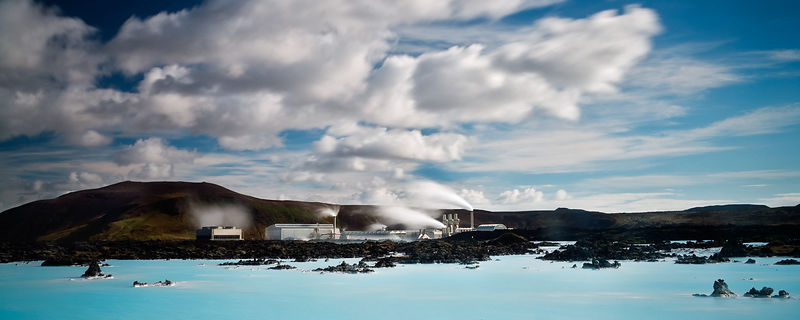 The Blue lagoon, Iceland's most famous geothermal spa.