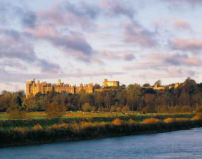 Dawn at Arundel Castle which is a popular venue for tourists and daytrippers. Viewed from across the River Arun, the castle i...