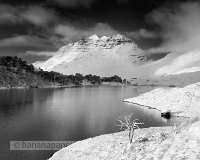 BP3525 - Liathach from Loch Clair Black and White Print