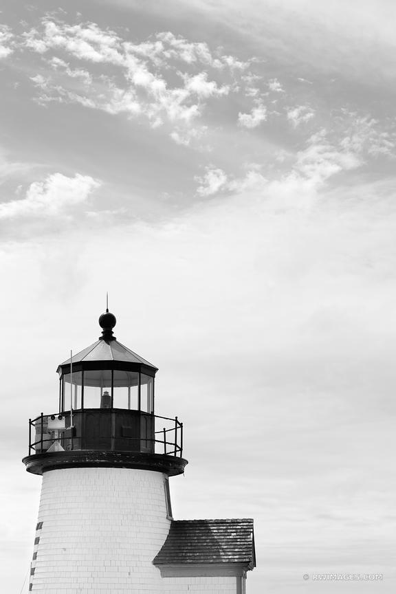 BRANT POINT LIGHT LIGHTHOUSE NANTUCKET BLACK AND WHITE VERTICAL